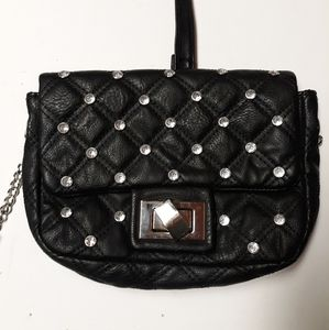 Handbags - Black cross-body with studs